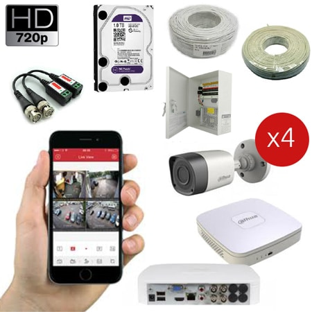 720P Comprehensive Package 4 Channel new