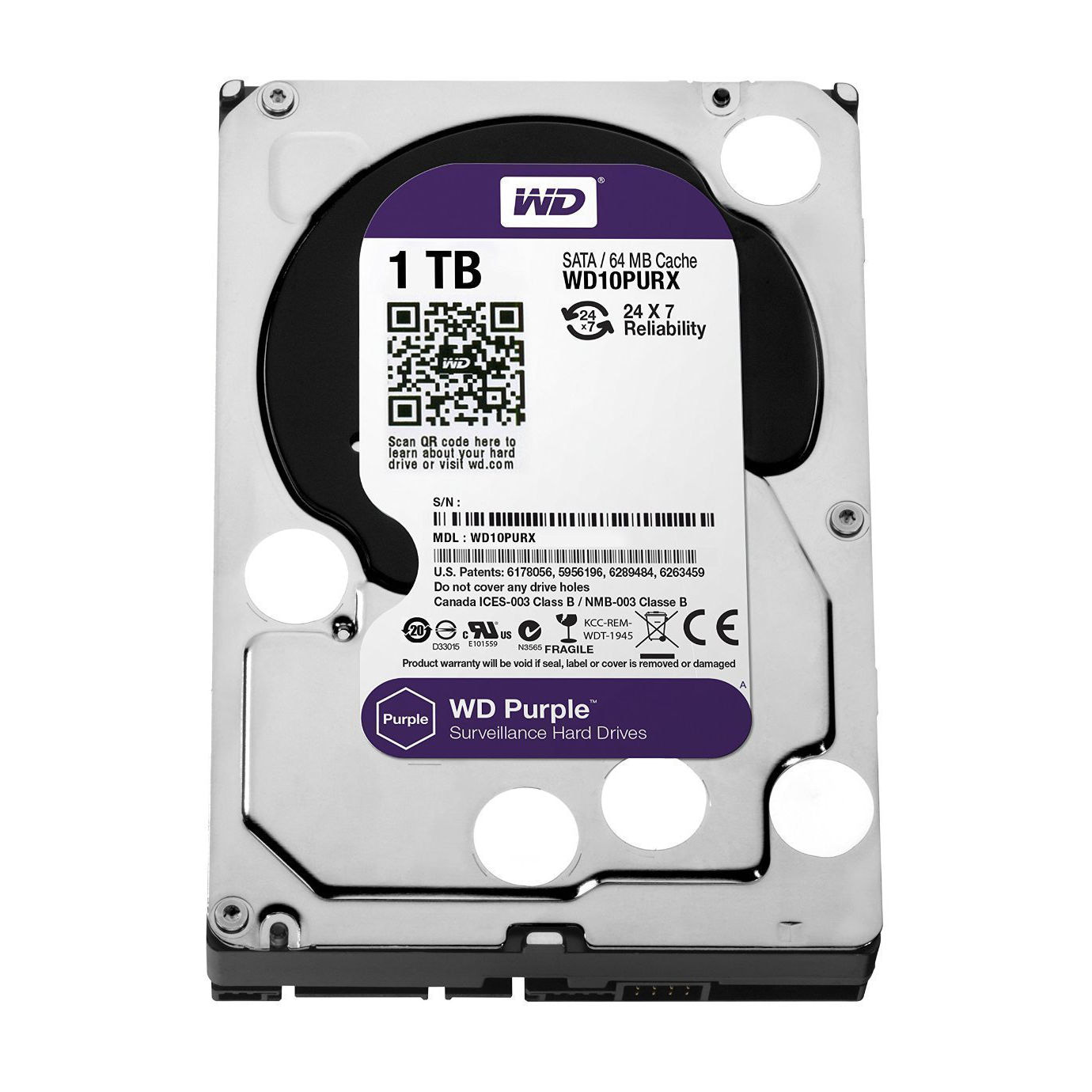 Western Digital 1TB Purple Grade Hard drive