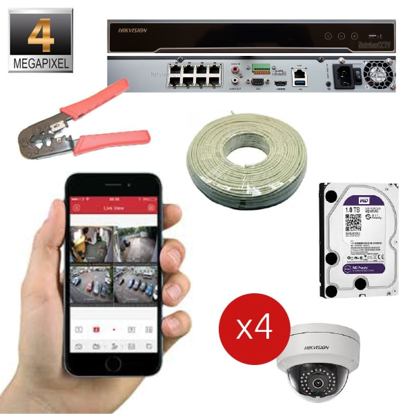 IP 4MP Package 4 Channel