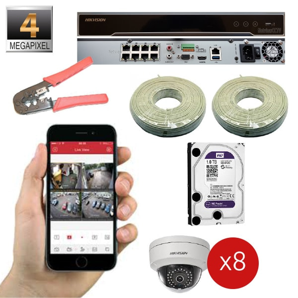 IP 4MP Package 8 Channel