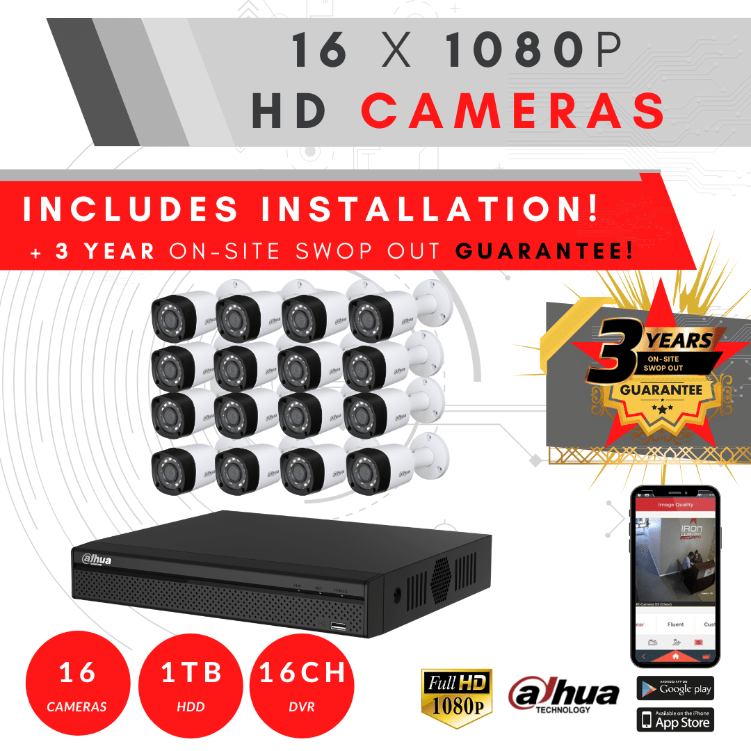 16 Channel Camera System 3YRswopout