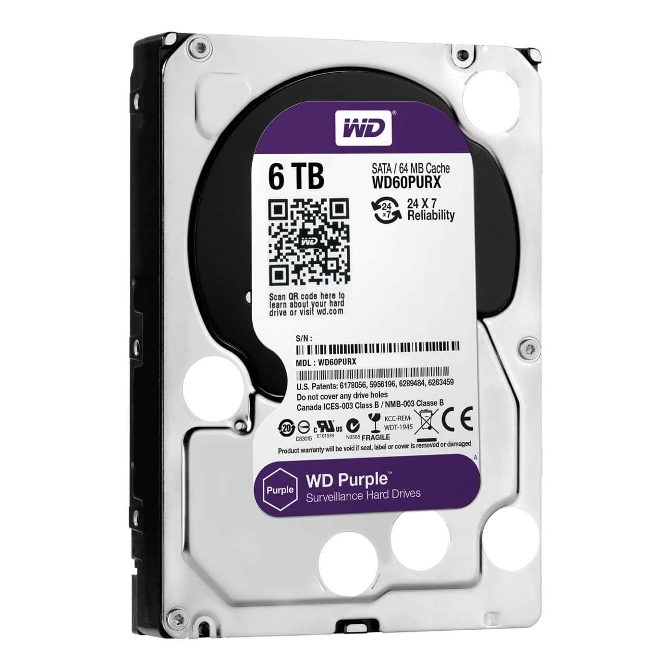 Western Digital 6TB Purple Grade Hard drive