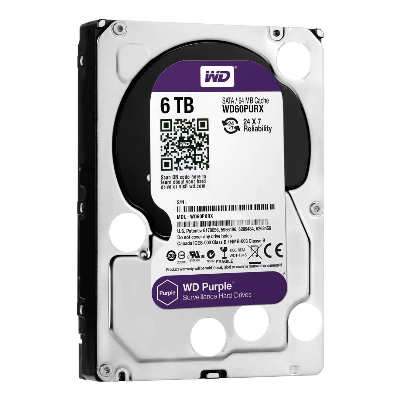 Western Digital 6TB Purple Grade Hard drive
