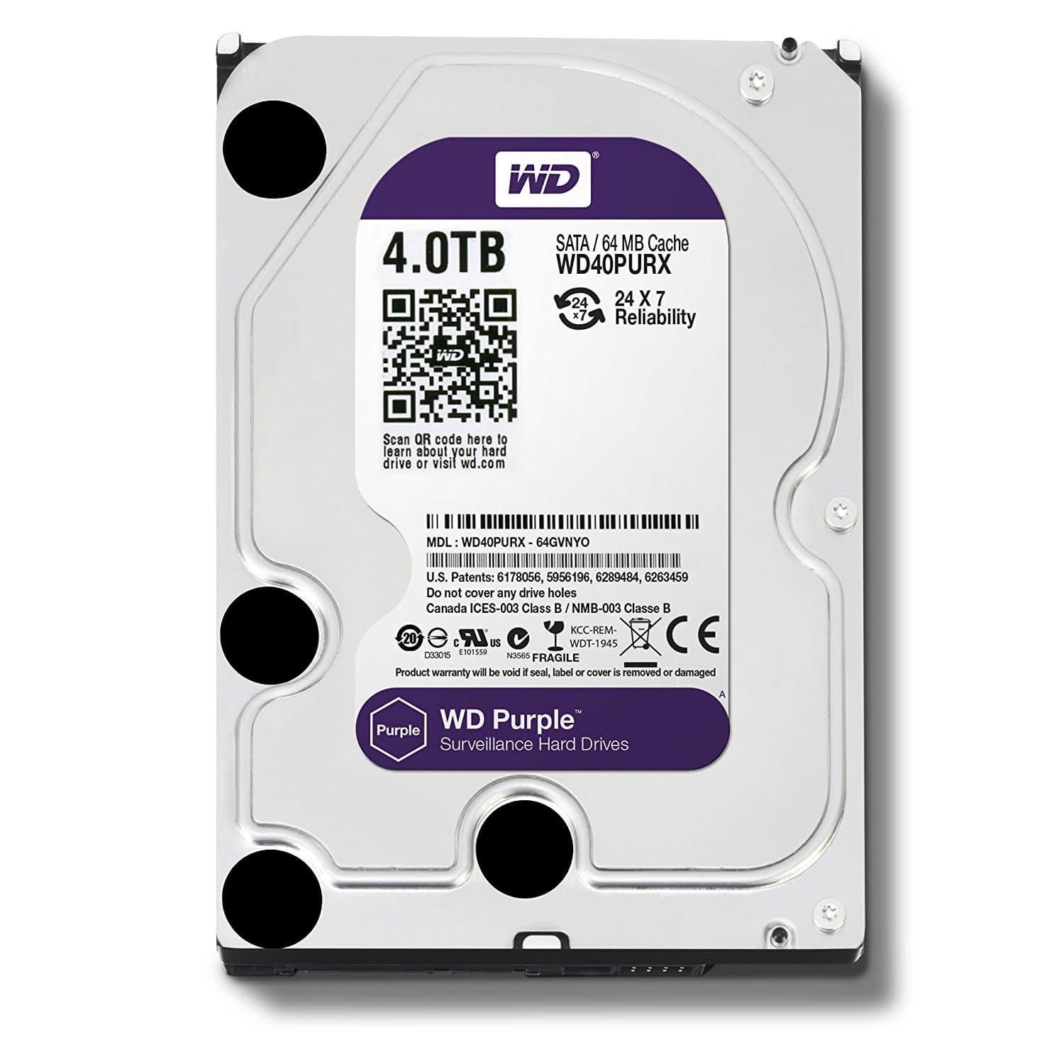 Western Digital 4TB Purple Grade Hard drive