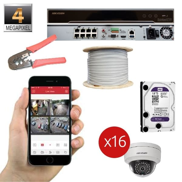 IP 4MP Package 16 Channel