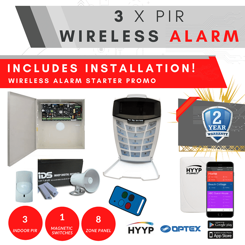cctv cameras, Wireless Alarms – Starter Special